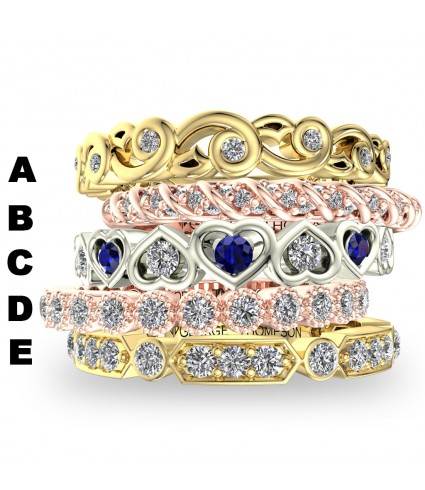 5 Stackable Diamond Rings