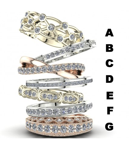 7 Stackable Diamond Rings