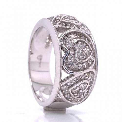 The Hajra Diamond Band in 14kt White Gold