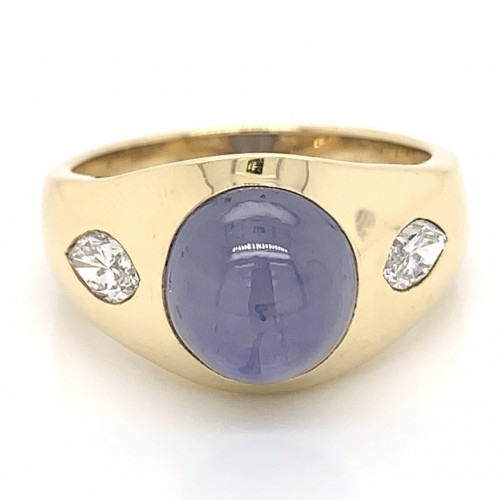 The Allena, Purple Star Sapphire and Diamond Engagement Ring