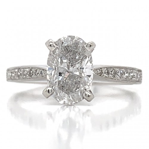 The Barhara Diamond Engagement Ring in 14kt White Gold