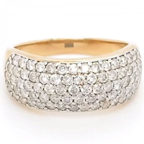 The Carita Diamond Band in 10kt Yellow Gold
