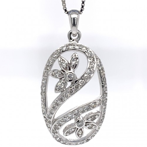 The Nahida Diamond Pendant in 14kt White Gold