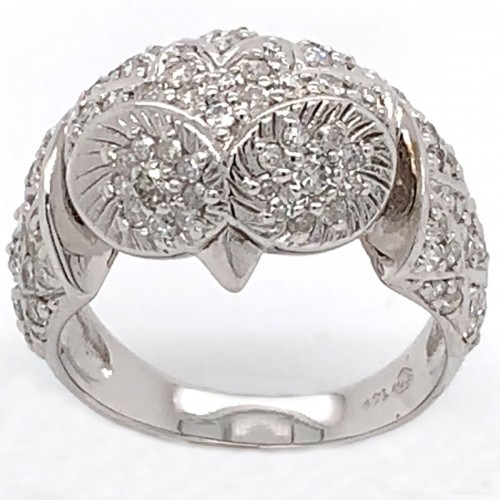 The Owl Diamond Band in 14kt White Gold