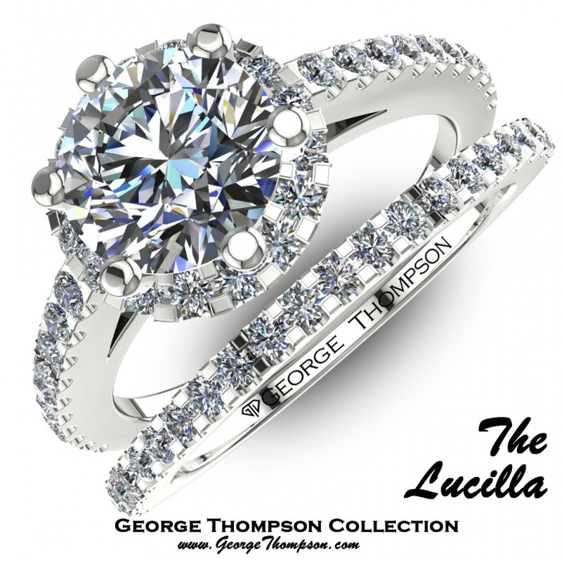f02360cef The Lucilla - Halo Wedding Sets - Wedding Sets - Collection | George ...