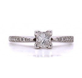 The Petria Diamond Engagement Ring in 14kt White Gold