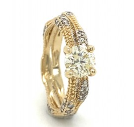 The Cimelia Wedding Set in 14kt Yellow Gold