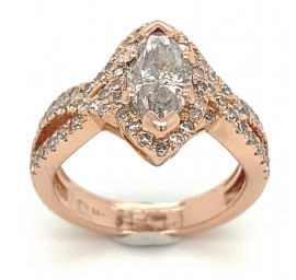 The Fitta Wedding Set in 14kt Rose Gold