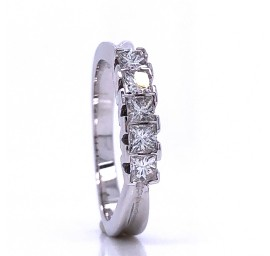 The Oberon Diamond Band in 14kt White Gold