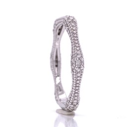 The Saima Diamond Band in 14kt White Gold