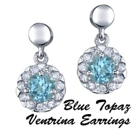 The Blue Topaz Ventrina Earrings