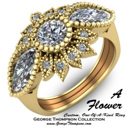 Custom Flower Ring