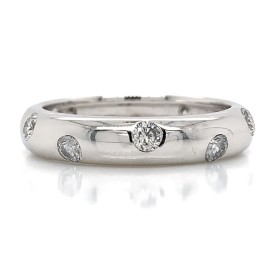 The Edsona Diamond Band in 14kt White Gold