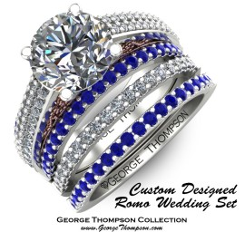 Custom Designed  Romo Wedding Set