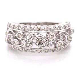 The Harina Diamond Band in 14kt White Gold