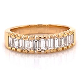 The Victra Diamond Band in 14kt Rose gold
